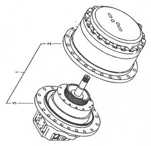 Caterpillar 252B2 1-Spd Reman Hydraulic Final Drive Motor