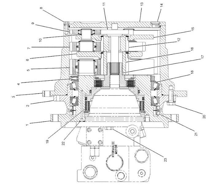Caterpillar 246 1-spd Reman Hydraulic Final Drive Motor